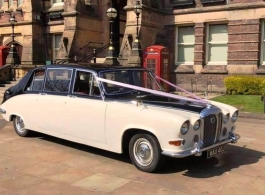 Classic Daimler for weddings in Canterbury
